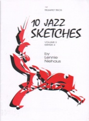 10 Jazz Sketches, Volume 3 Grade 4 - Trumpet Trio