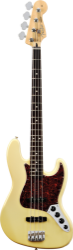 Fender Active Jazz Bass, Rosewood, Vintage White, w/Gig Bag