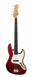 Fender Standard Jazz Bass, Maple, Candy Apple Red, 3-Ply Parch, No Bag