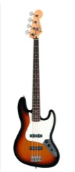Fender Standard Jazz Bass, Maple, Brown Sunburst, 3-Ply Parch, No Bag