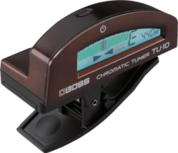 BOSS TU-10-BN Clip-On Chromatic Tuner - Brown