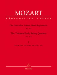 13 Early String Quartets, Volume I no. 1-4