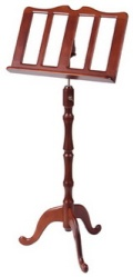 Stageline MS20CH Cherry Finish Wood Music Stand