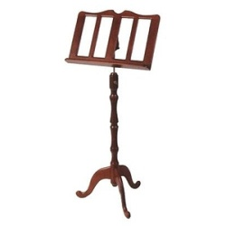 Stageline MS40MA Mahogany Finish Wood Music Stand