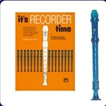 Blue Candy Apple Recorder & It's Recorder Time Book