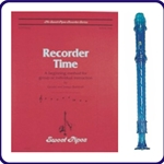 Blue Candy Apple Recorder & Recorder Time Book