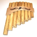Bamboo Curved Panpipes 1 Octave Key of C