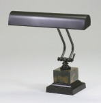 House of Troy Mahogony Bronze/Marble Piano Lamp