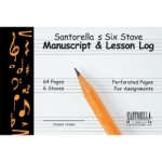 Manuscript Paper and Lesson Log, 6-Staff