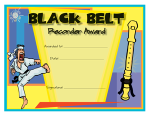 Recorder Award Certificate - Black Belt
