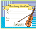 Musician of the Week Certificates
