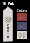Choir Award Ribbon - BLUE 10 Pak