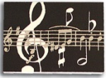 Black Music Note Stick On Notes