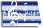 Blue Music Note Stick On Notes