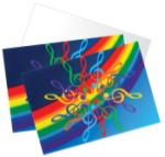 Treble Clef Rainbow Note Cards