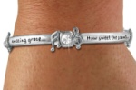 "Crystal Engraved ""Amazing Grace"" Bracelet"