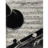 Clarinet Granite Plaque w/ easel