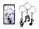 "1.25"" Note Keychains - Set of 3"