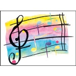 Clef Blank Note Cards