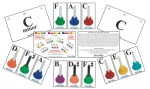 Set of 36 Color Coded Cards for Chromatic Handbells