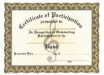 Participation Certificates - Band