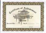 Achievement Certificates - Piano