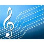 Blue G Clef Boxed Cards