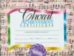 Choral Achievement Certificates