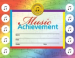 Music Achievement Certificates with Reward Seal Stickers