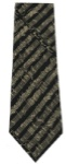 Black and Cream Silk Neck Tie