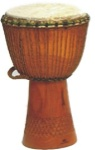 "13"" Hand Carved Kangaba Djembe from Mali"