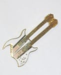 BC Rich Double Neck Guitar Pin - White