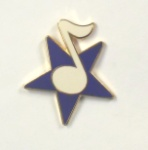Star with Note Pin - Assorted Colors