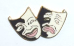 Comedy & Tragedy Masks Pin