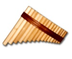 FP-15 Gibonus 15 Note Pan Flute - Key of G