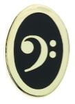 Oval Pin - Bass Clef