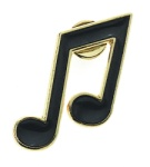Eighth Notes Pin
