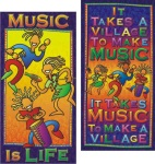 Music is Life / It Takes a Village - Poster Set