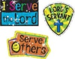 Serve the Lord Christian Sparkle Stickers