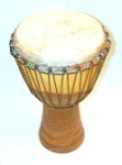 "12"" Hand Carved Djembe from Mali"