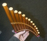 Large Curved Pan Flute From Peru