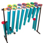 Orff Two Octave Joia Tubes: C-C, F#, Bb, w/mallets