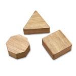 DOBANI Assorted Whitewood Shaker Set 3-Piece
