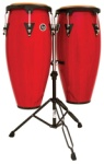 "LP Aspire LPA646-RW 10"" & 11"" Conga Set with Stand (Red Wood)"