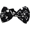 Black and White Notes Bow Tie