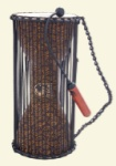 "Toca T-TLKD 8"" X 16"" Talking Drum With Beater, African Mask"