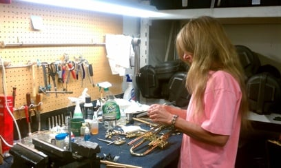 Sue Anderson Brass Repair Technician