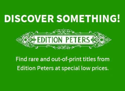 C. F. Peters Logo and special offer
