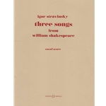 3 Songs from William Shakespeare - Mezzo Soprano Voice and Piano (Vocal Score)