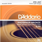 D'Addario EJ15 Acoustic Guitar Strings Phosphor Extra Light